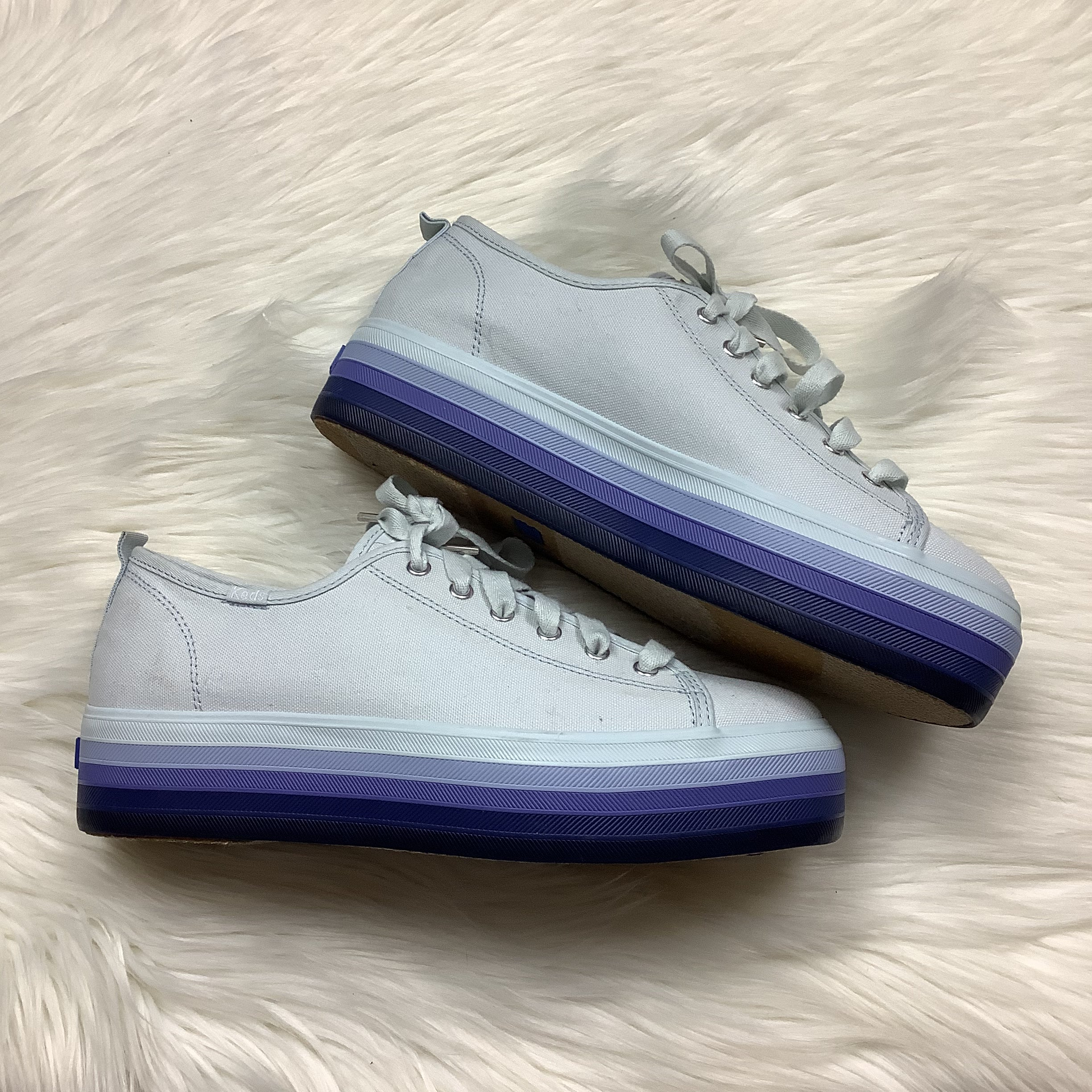Photo #2 - BRAND: KEDS <BR>STYLE: SHOES ATHLETIC <BR>COLOR: PERIWINKLE <BR>SIZE: 10 <BR>SKU: 208-208162-1958<BR>AS IS