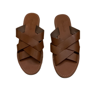 Primary Photo - BRAND: MADEWELL STYLE: SANDALS FLAT COLOR: BROWN SIZE: 6.5 SKU: 208-208114-39798