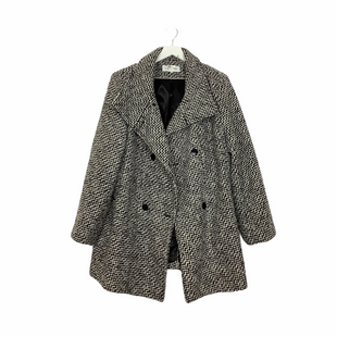 Primary Photo - BRAND: CALVIN KLEIN STYLE: COAT WOOL COLOR: BLACK WHITE SIZE: XXL SKU: 208-208131-22576