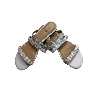 Primary Photo - BRAND: TALBOTS O STYLE: SANDALS FLAT COLOR: WHITE SIZE: 8 OTHER INFO: AS IS SKU: 208-20831-70695