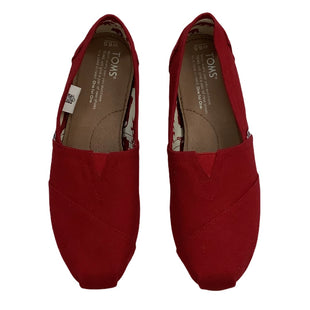 Primary Photo - BRAND: TOMS STYLE: SHOES FLATS COLOR: RED SIZE: 6.5 SKU: 208-208142-9877
