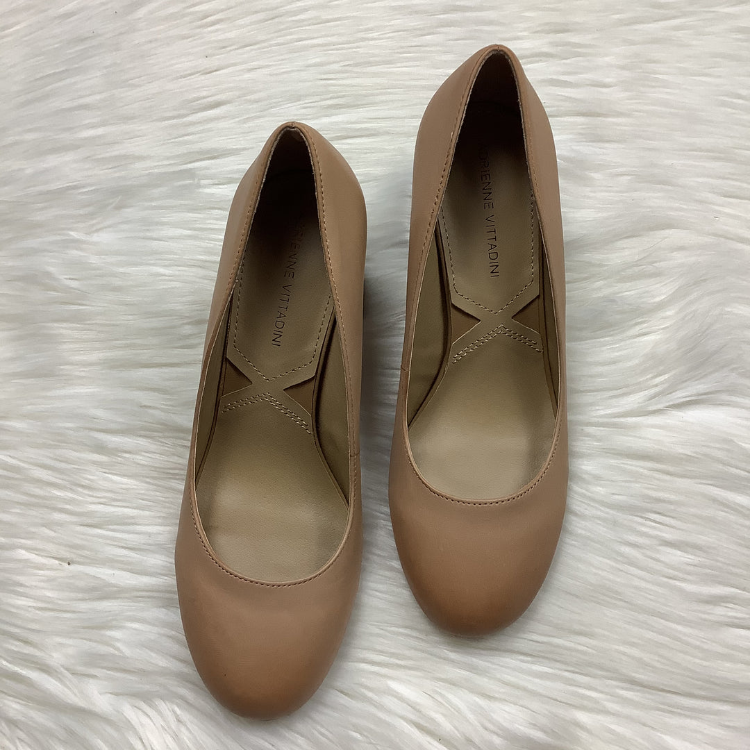 Photo #1 - BRAND: ADRIENNE VITTADINI <BR>STYLE: SHOES HIGH HEEL <BR>COLOR: TAN <BR>SIZE: 8 <BR>SKU: 208-208114-41903