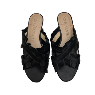 Primary Photo - BRAND: SOLE SOCIETY STYLE: SANDALS FLAT COLOR: BLACK SIZE: 9 SKU: 208-208114-39187