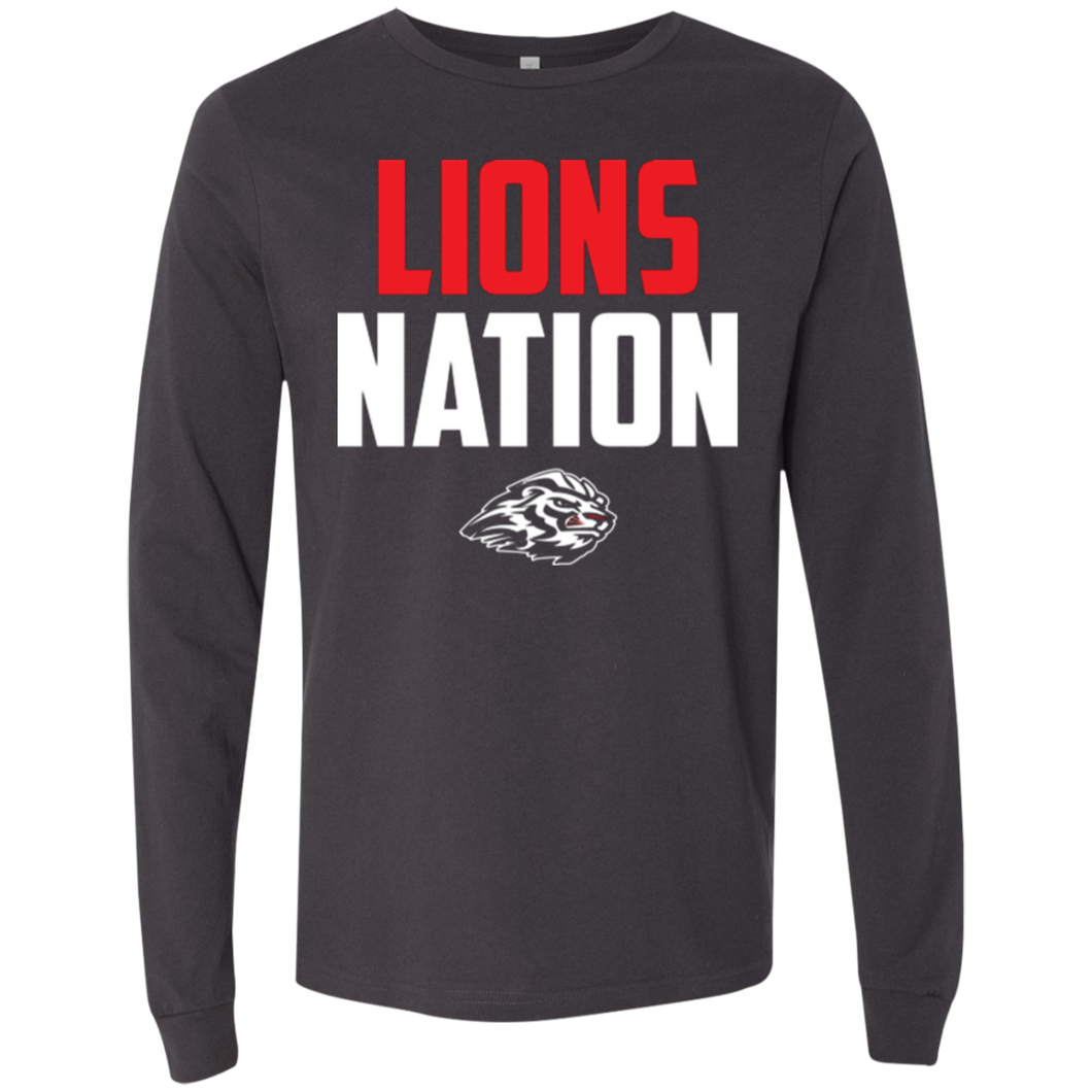 Lions Travel Ball Nation Men's Jersey LS T-Shirt