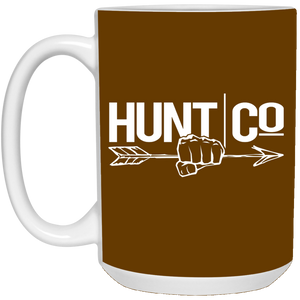HuntCo 15 oz. White Mug