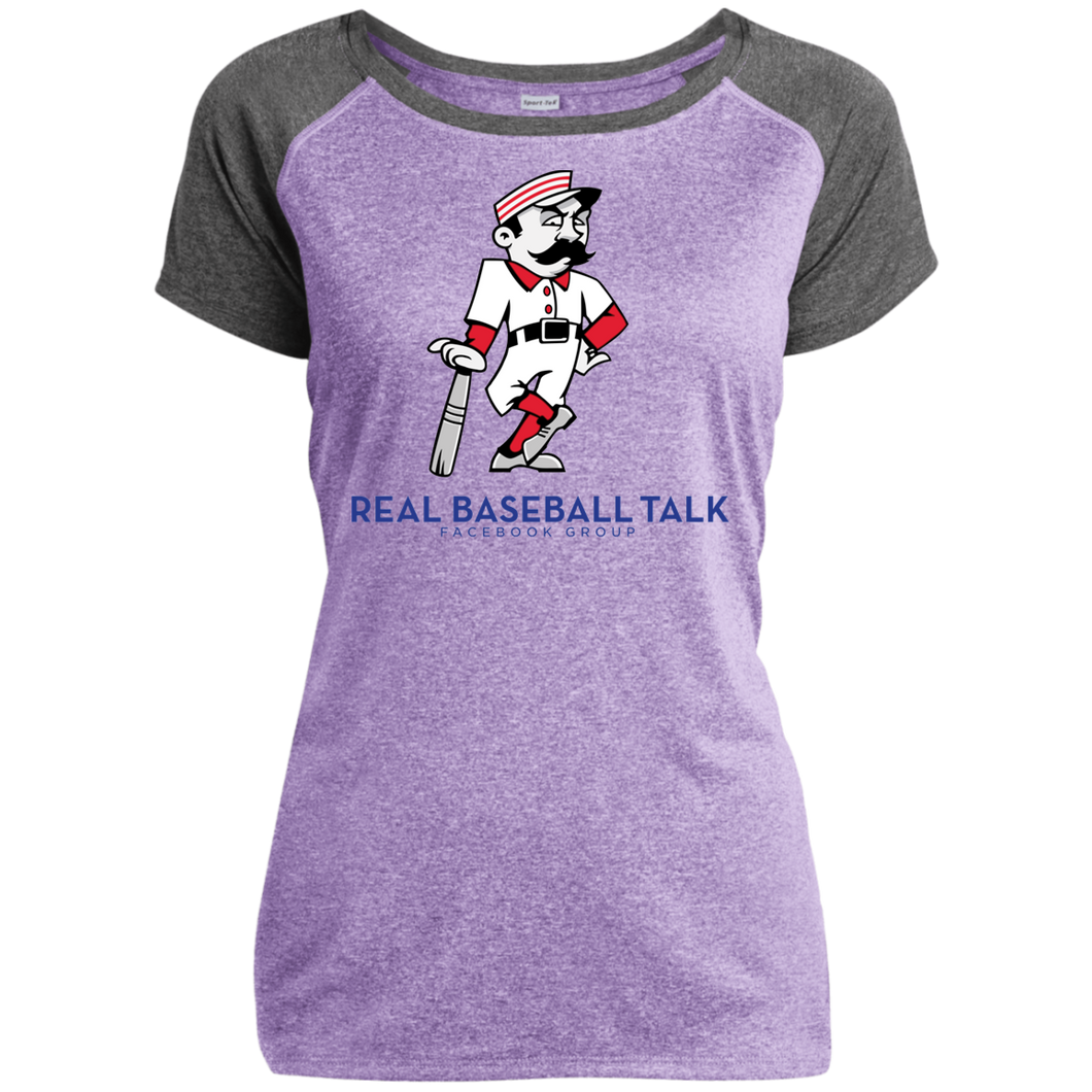 Real Baseball Talk Ladies Heather on Heather Performance T-Shirt