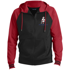 Real Baseball Talk  Men's Sport-Wick® Full-Zip Hooded Jacket (embroidery)
