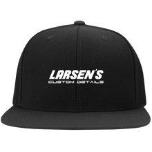 Load image into Gallery viewer, Larsen's Custom Details Flat Bill High-Profile Snapback Hat