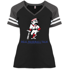 Load image into Gallery viewer, Real Baseball Talk Ladies' Game V-Neck T-Shirt