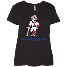 Load image into Gallery viewer, Real Baseball Talk Ladies' Curvy T-Shirt