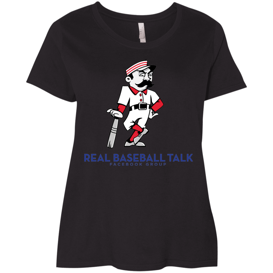 Real Baseball Talk Ladies' Curvy T-Shirt