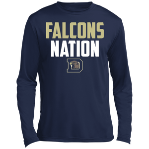 Falcons Nation Long sleeve Moisture Absorbing T-Shirt