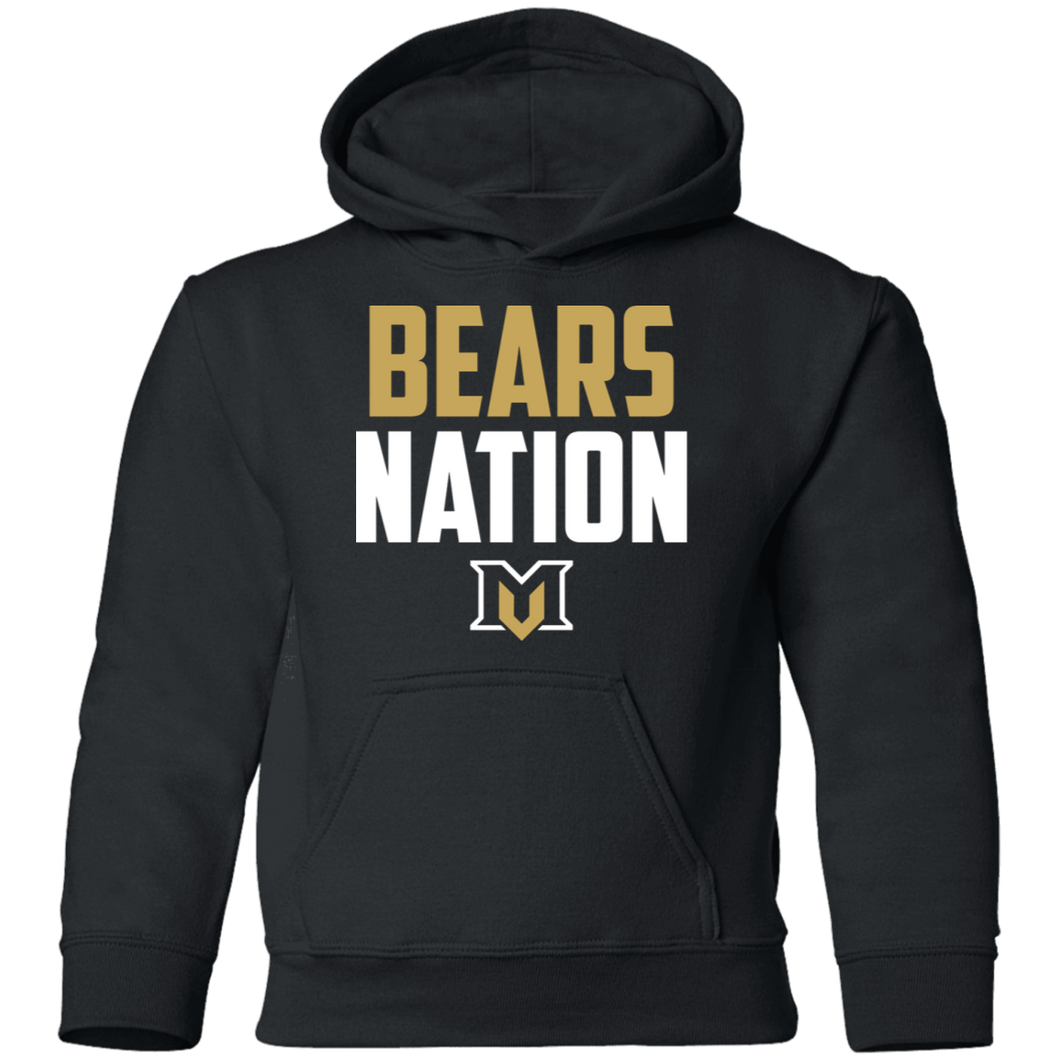 MV Bears Nation Youth Pullover Hoodie