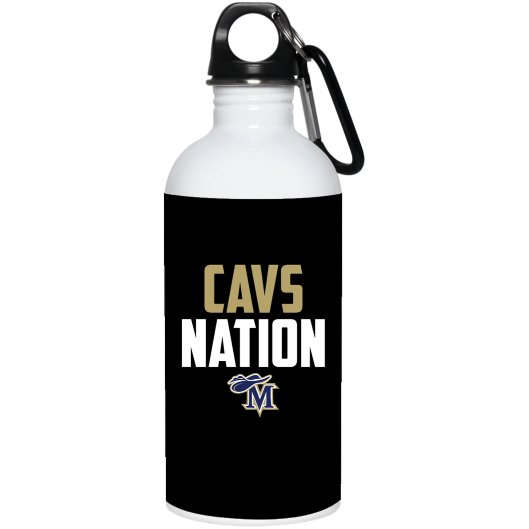 Cavs Nation 20 oz. Stainless Steel Water Bottle