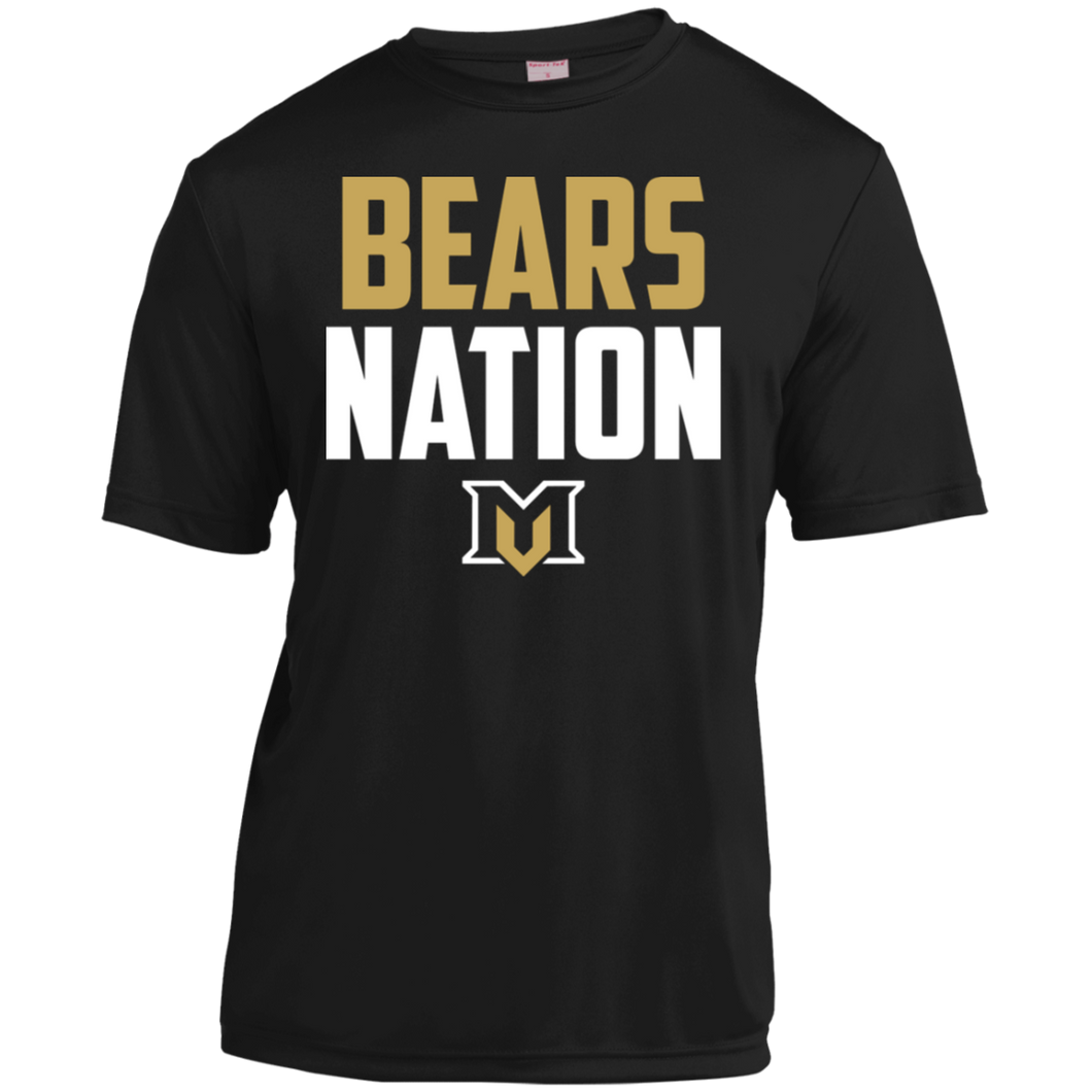 MV Bears Nation Youth Moisture-Wicking T-Shirt