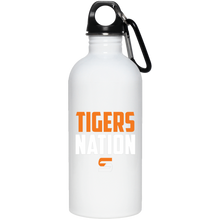 Load image into Gallery viewer, Tigers Nation 20 oz. Stainless Steel Water Bottle