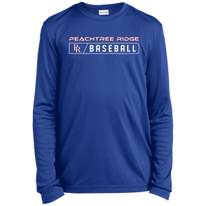 Peachtree Ridge Lions Bar Logo Youth Long Sleeve Moisture-Wicking T-Shirt