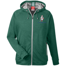Load image into Gallery viewer, Real Baseball Talk  Men's Heathered Performance Hooded Jacket