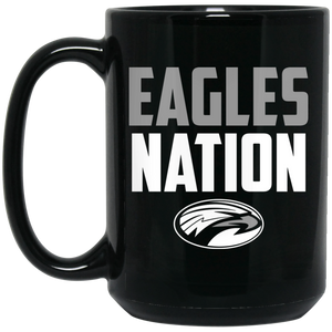 Eagles Nation 15 oz. Black Mug