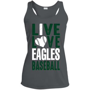Live/Love Eagles Ladies' Racerback Moisture Wicking Tank