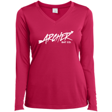 Load image into Gallery viewer, Archer Bat Co Ladies' LS Performance V-Neck T-Shirt