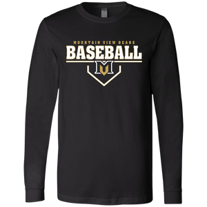 MV Bears Plate Logo Men's Jersey LS T-Shirt