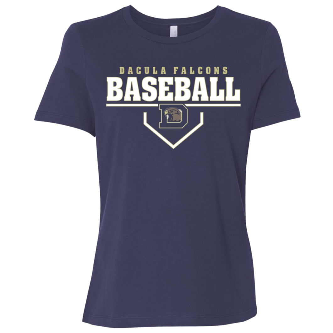 Dacula Falcons Plate Logo Ladies' Relaxed Jersey Short-Sleeve T-Shirt