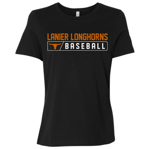 Lanier Longhorns Bar Logo Ladies' Relaxed Jersey Short-Sleeve T-Shirt