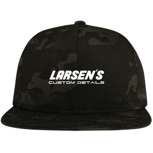 Larsen's Custom Details Flat Bill High-Profile Snapback Hat