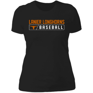 Lanier Longhorns Bar Logo Ladies' Boyfriend T-Shirt