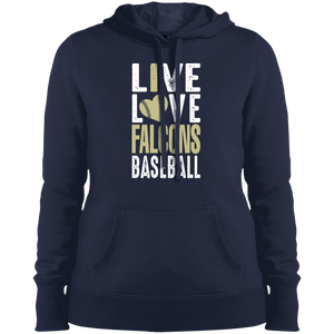 Live/Love Falcons Ladies' Pullover Hooded Sweatshirt