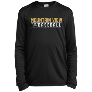 MV Bears Bar Logo Youth Long Sleeve Moisture-Wicking T-Shirt