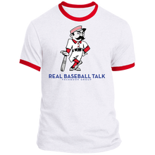 Load image into Gallery viewer, Real Baseball Talk Ringer Tee