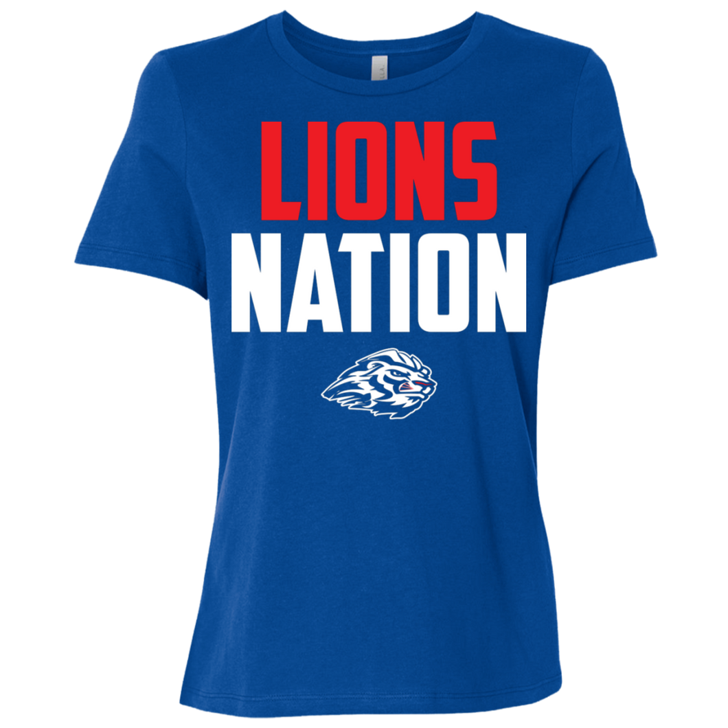 Lions Nation Ladies' Relaxed Jersey Short-Sleeve T-Shirt