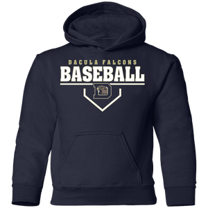 Dacula Falcons Plate Logo Youth Pullover Hoodie