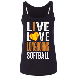 live/Love Longhorns Ladies' Relaxed Jersey Tank
