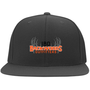 IBO Black/Orange/Gray Logo Flat Bill Twill Flexfit Cap