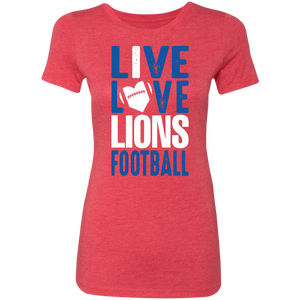 Peachtree Ridge Lions Ladies' Triblend T-Shirt