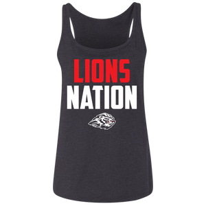 Lions Nation Ladies' Relaxed Jersey Tank