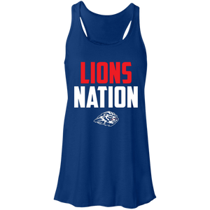 Lions Travel Ball Nation  Flowy Racerback Tank