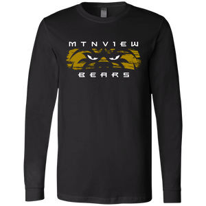 MV Bear Eyes Men's Jersey LS T-Shirt