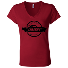 Load image into Gallery viewer, Larsen's Custom Details Ladies' Jersey V-Neck T-Shirt
