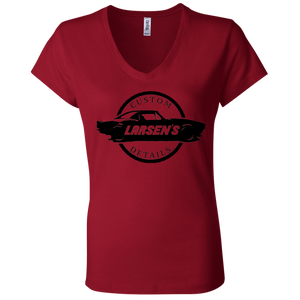 Larsen's Custom Details Ladies' Jersey V-Neck T-Shirt