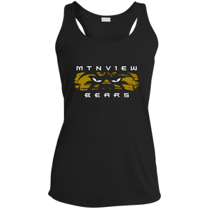 MV Bear Eyes Ladies' Racerback Moisture Wicking Tank