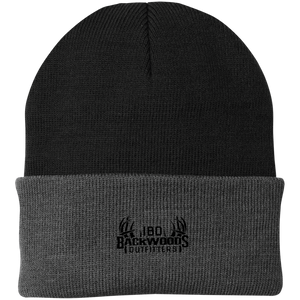 IBO Black Logo Knit Cap