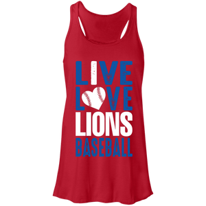 Lions Travel Ball Live/Love Flowy Racerback Tank