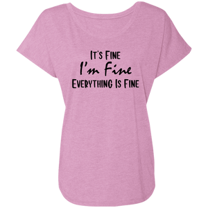 It's Fine Ladies' Triblend Dolman Sleeve