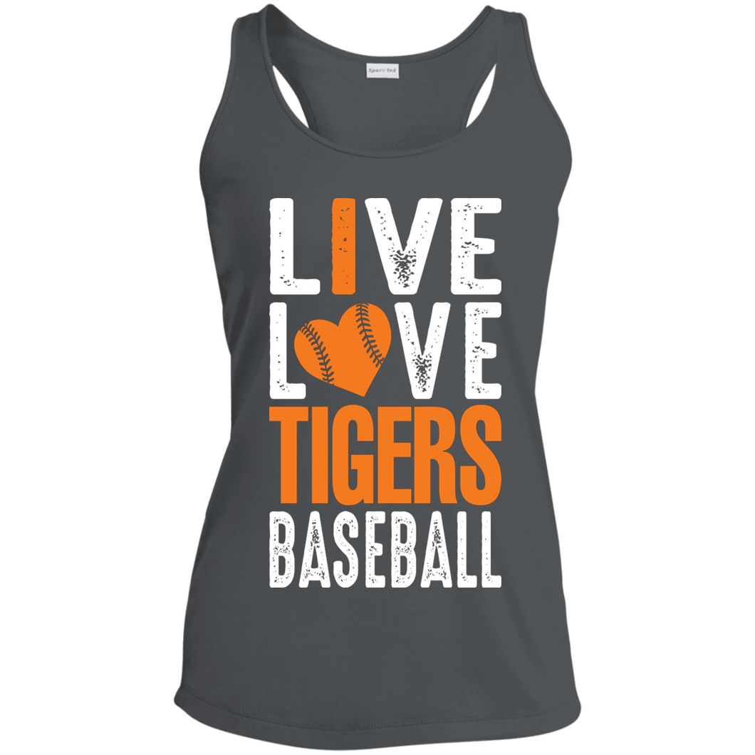 Live/Love Tigers Ladies' Racerback Moisture Wicking Tank