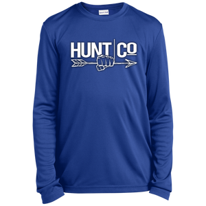 HuntCo Youth Long Sleeve Moisture-Wicking T-Shirt