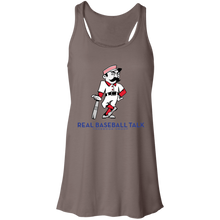 Load image into Gallery viewer, Real Baseball Talk  Flowy Racerback Tank